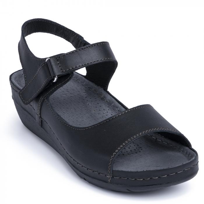 Sandale din piele naturala 257 Negru 2