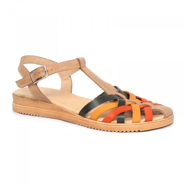 Sandale din piele naturala 258 Color Vara 0