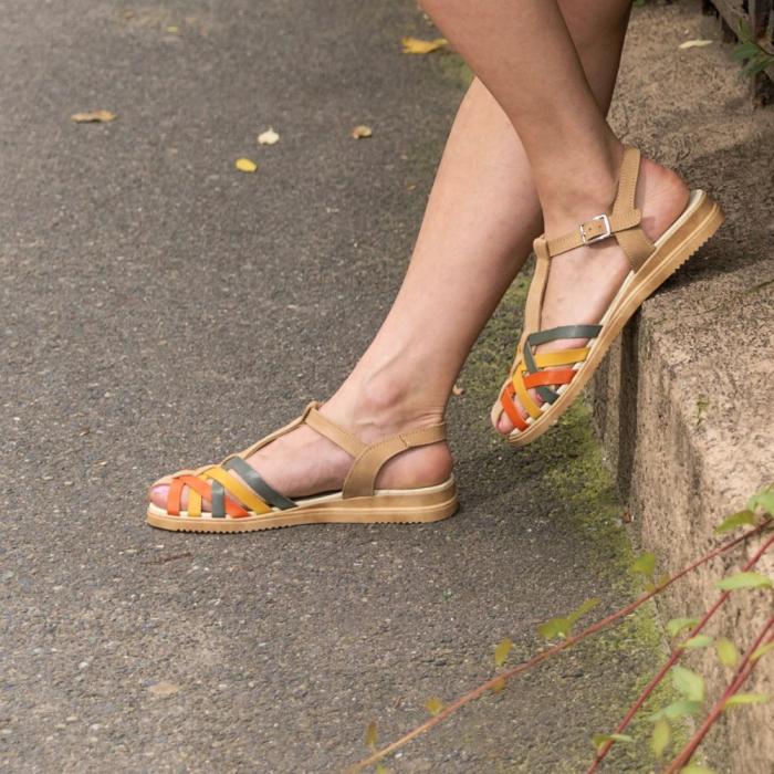 Sandale din piele naturala 258 Color Vara [1]