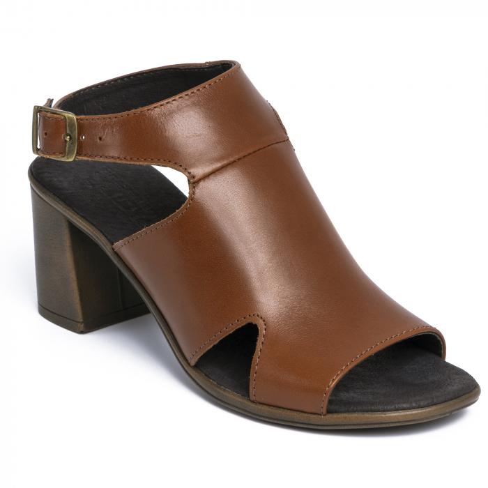 Sandale din piele naturala 278 Maro 0