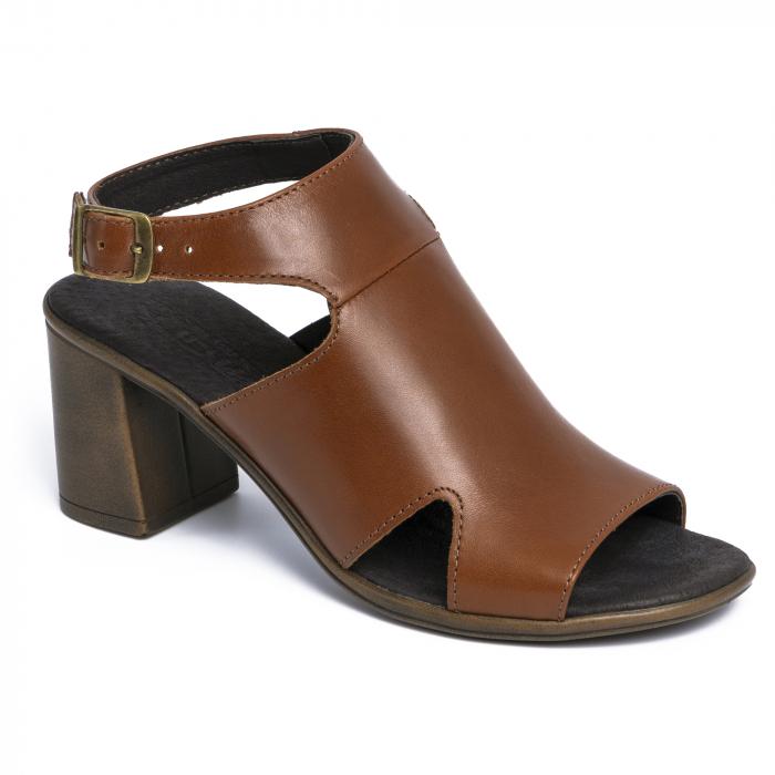 Sandale din piele naturala 278 Maro 1