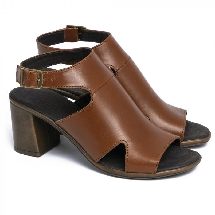 Sandale din piele naturala 278 Maro 2