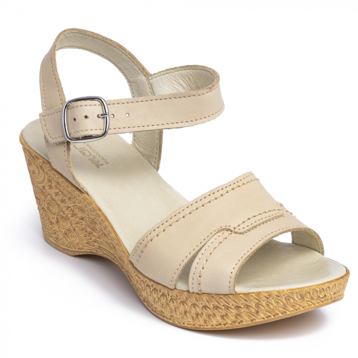 Sandale din piele naturala 195 Bej [2]