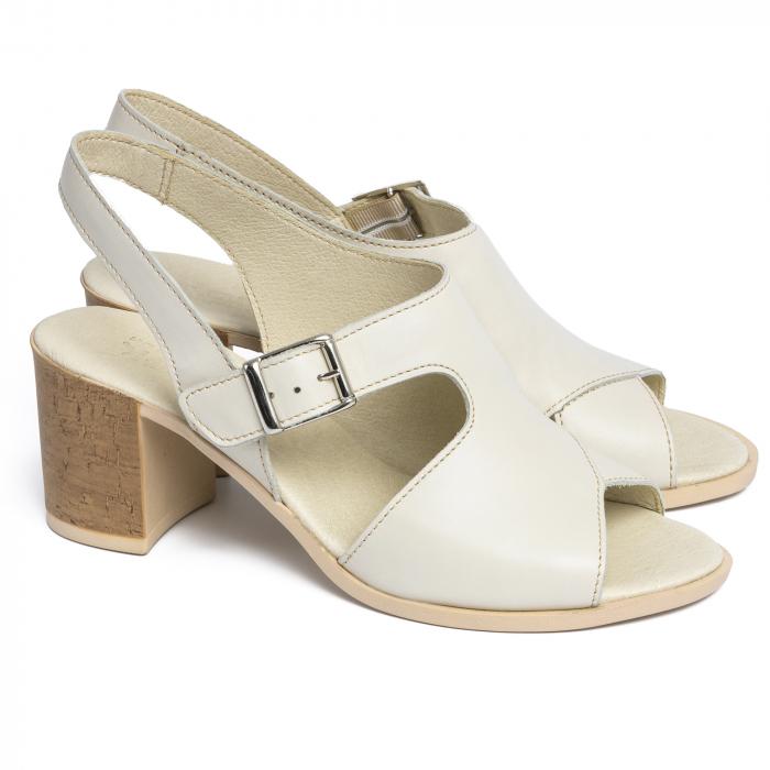 Sandale din piele naturala 279 Crem 1