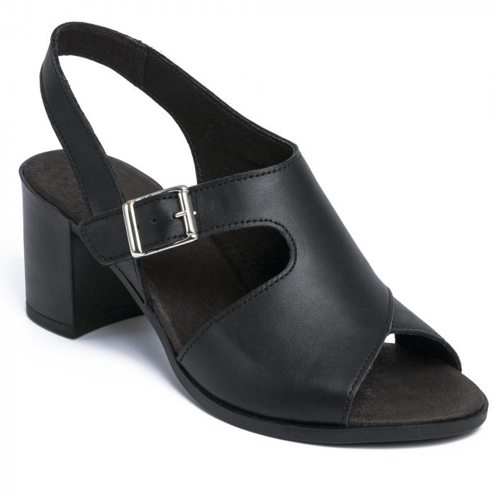 Sandale din piele naturala 279 Negru 0