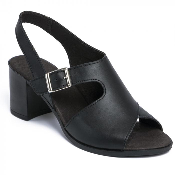 Sandale din piele naturala 279 Negru 2