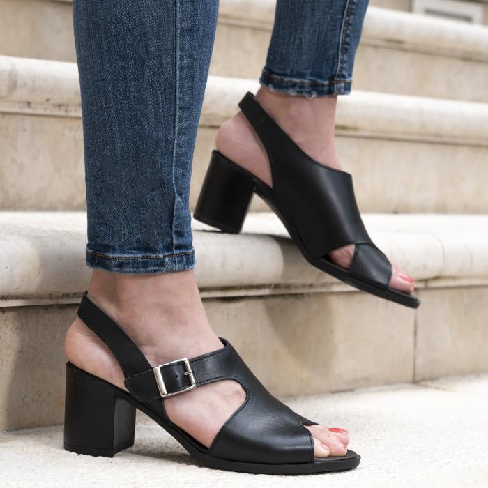 Sandale din piele naturala 279 Negru [0]
