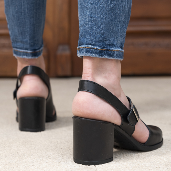 Sandale din piele naturala 279 Negru [1]