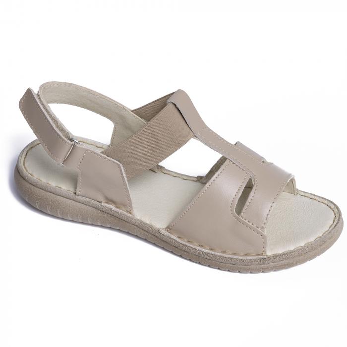 Sandale din piele naturala 452 Bej [0]