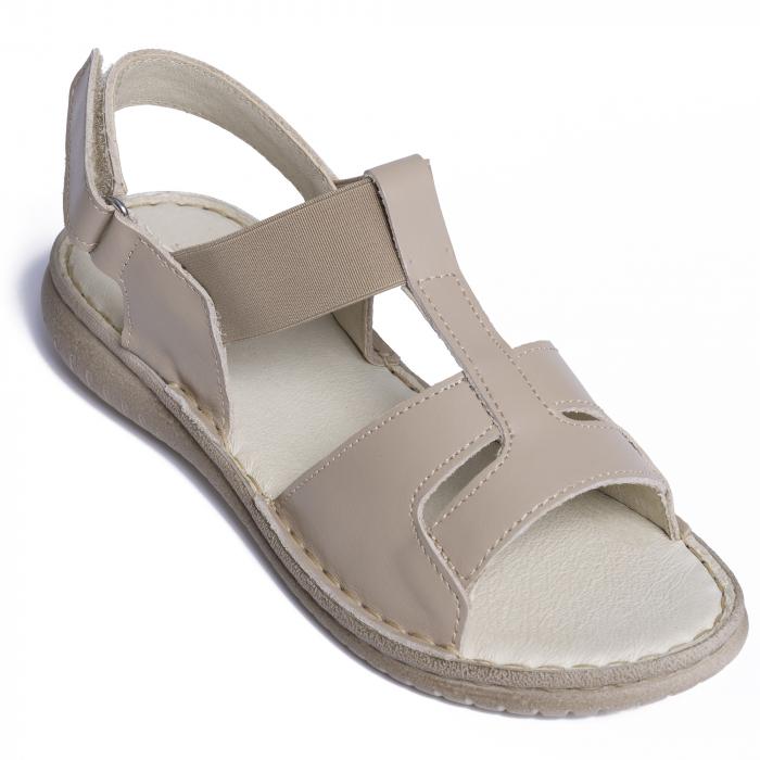 Sandale din piele naturala 452 Bej [2]