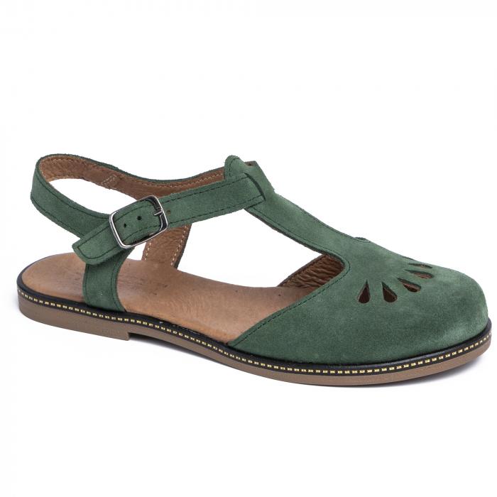 Sandale din piele naturala 281 Verde Velur 0