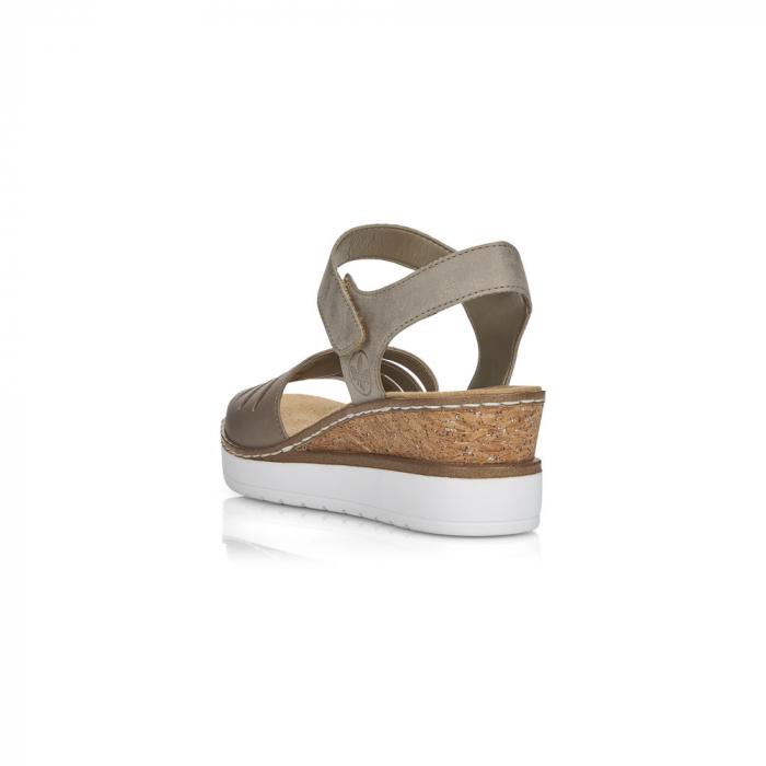 Sandale din piele naturala Rieker V38G6-64 Bej [2]