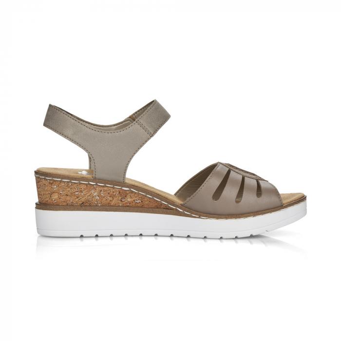 Sandale din piele naturala Rieker V38G6-64 Bej [1]