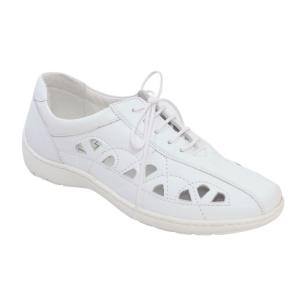 Pantofi din piele Medline Confort 441 Alb0
