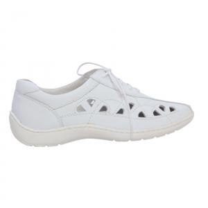 Pantofi din piele Medline Confort 441 Alb1