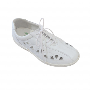Pantofi din piele Medline Confort 441 Alb2