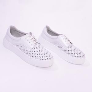 Pantofi casual dama 574 Alb Sidefat6
