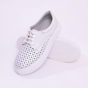 Pantofi casual dama 574 Alb Sidefat5