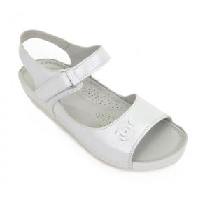 Sandale din piele naturala 257 Alb0
