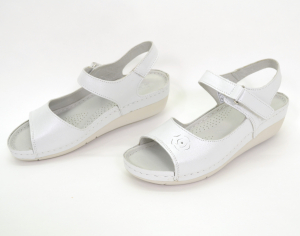 Sandale din piele naturala 257 Alb3