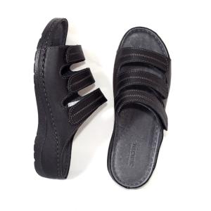 Papuci medicali din piele naturala 255 Negru3