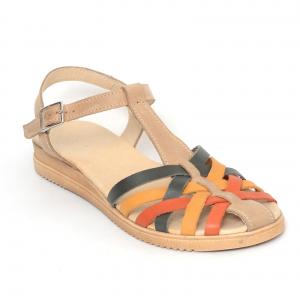 Sandale din piele naturala 258 Color Vara1