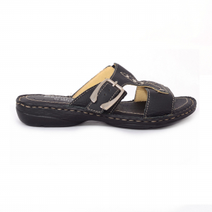 Papuci din piele naturala Medline, 407 Negru2