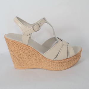 Sandale din piele naturala 204 Bej1