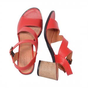 Sandale din piele naturala 250 Rosu3