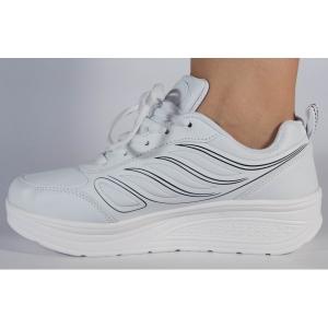 Adidasi albi cu talpa convexa2