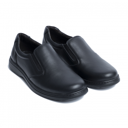 Pantofi casual din piele naturala 1056 Negru [1]