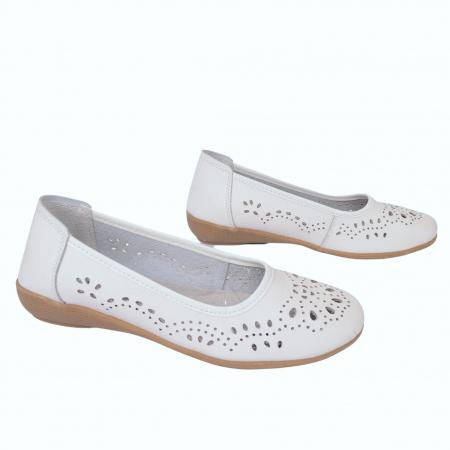 Balerini de piele B735684 White1