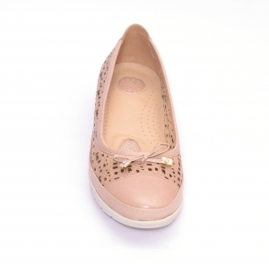 Balerini de piele Relax Nevalis roz2