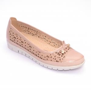 Balerini de piele Relax Nevalis roz0