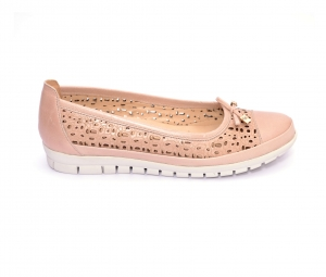 Balerini de piele Relax Nevalis roz1