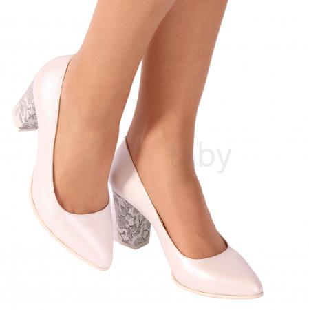 Pantofi din piele naturala 558 TIMB ALB [0]