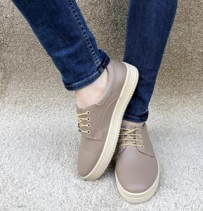 Pantofi piele naturala Denna 521 Nude2