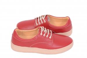 Pantofi piele naturala Denna 521 Rosu3