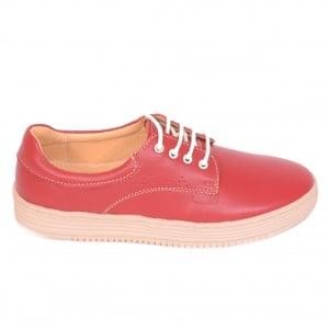 Pantofi piele naturala Denna 521 Rosu0