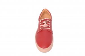 Pantofi piele naturala Denna 521 Rosu1