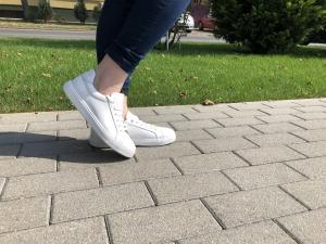 Pantofi Piele Naturala Veya 564 Alb1