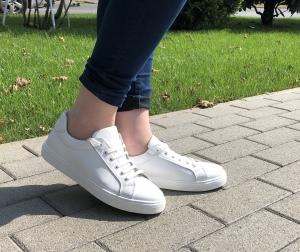 Pantofi Piele Naturala Veya 564 Alb0