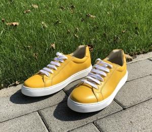 Pantofi Piele Naturala Veya 564 Galben1