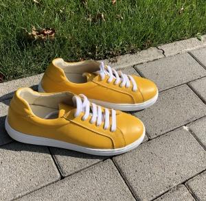 Pantofi Piele Naturala Veya 564 Galben0