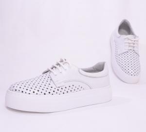 Pantofi casual dama 574 Alb Sidefat4