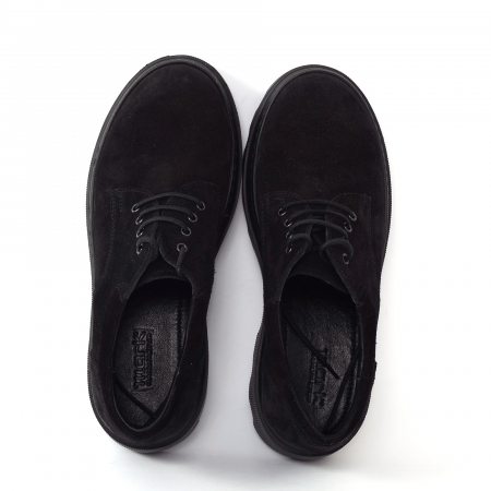 Pantofi casual dama 595 Negru Velur [2]