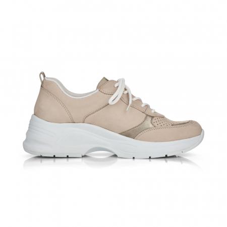Pantofi sport din piele naturala Rieker 59426-602