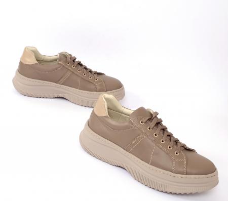 Pantofi casual dama 600 Bej1