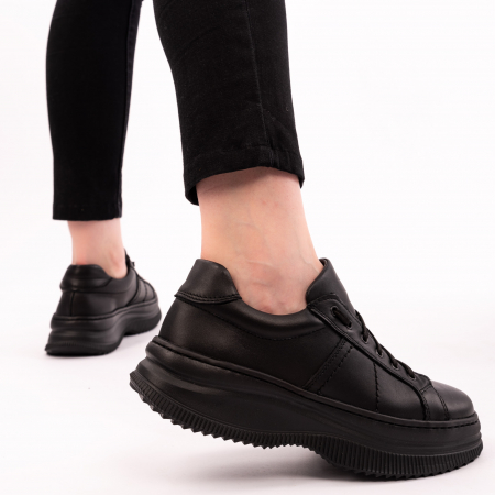 Pantofi casual dama 600 Negru [1]