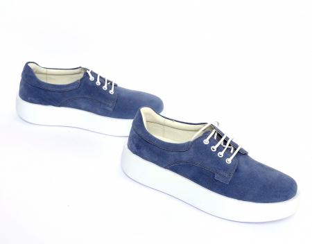 Pantofi casual dama 606 Bleumarin Velur [2]